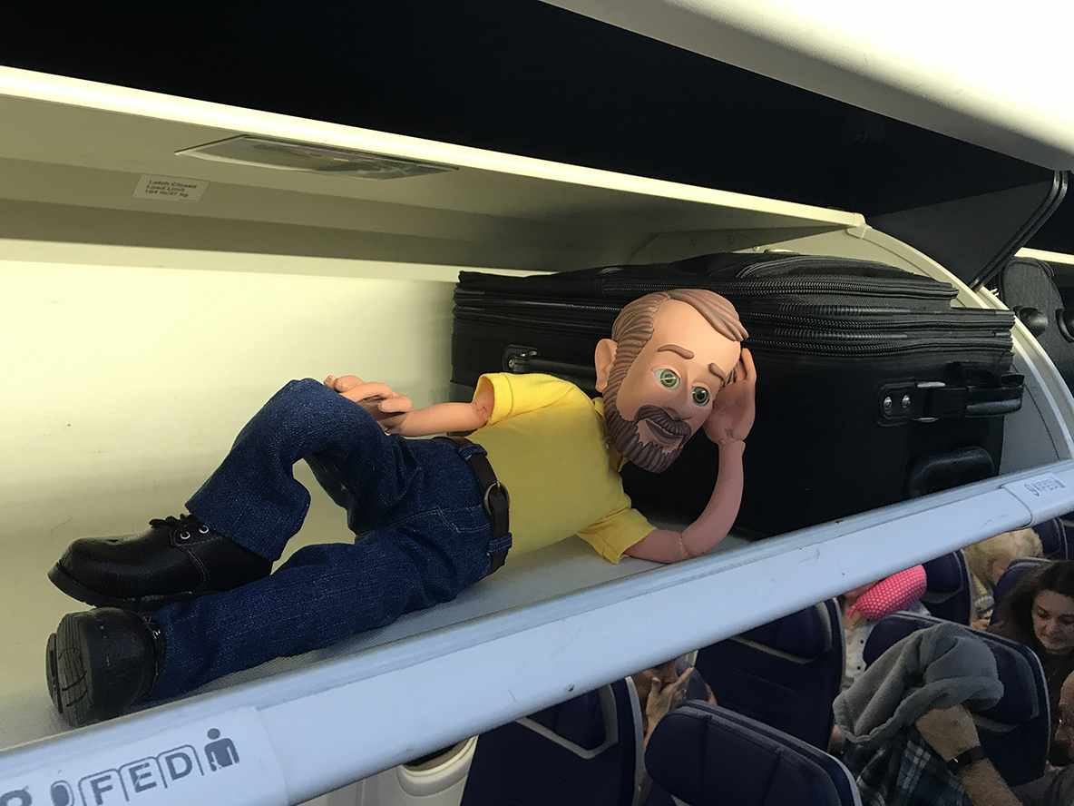 At first, it was the overhead bin...